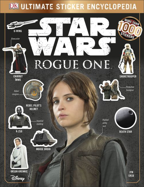 Paperback cover of Star Wars Rogue One Ultimate Sticker Encyclopedia