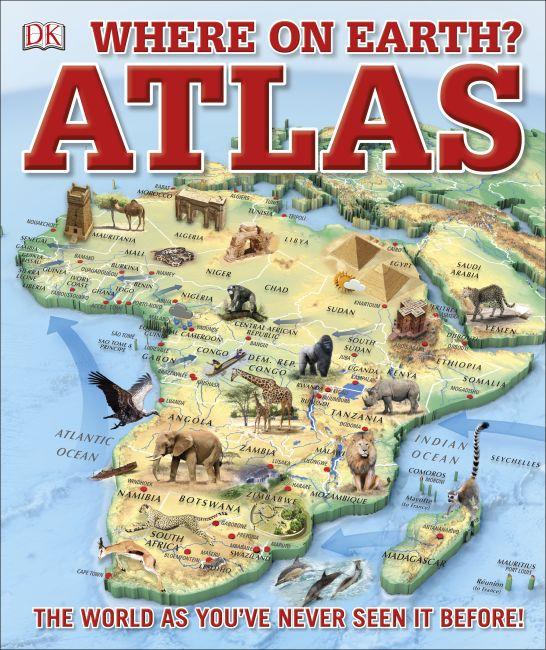 Hardback cover of Where on Earth? Atlas