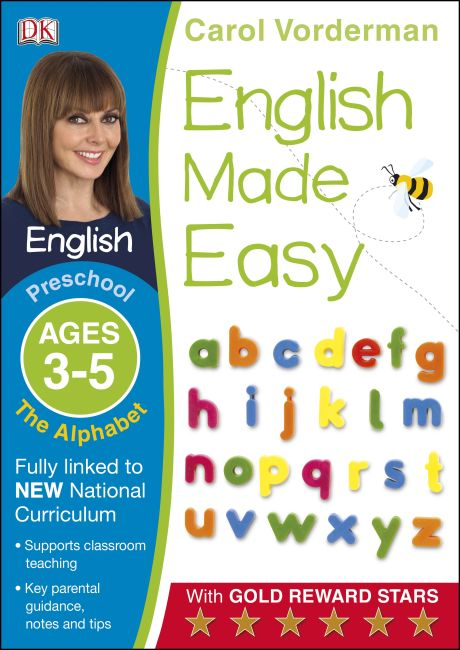 Paperback cover of English Made Easy The Alphabet Ages 3-5 Preschool Key Stage 0