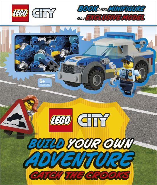 Hardback cover of LEGO City Build Your Own Adventure Catch the Crooks