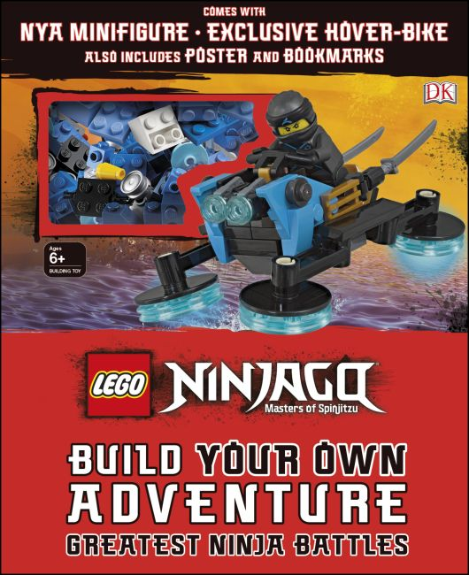 Hardback cover of LEGO NINJAGO Build Your Own Adventure Greatest Ninja Battles
