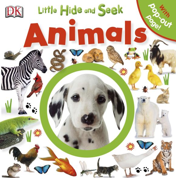 Board book cover of Little Hide and Seek: Animals