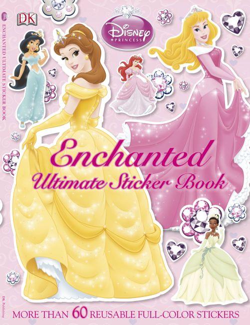 Paperback cover of Ultimate Sticker Book: Disney Princess: Enchanted