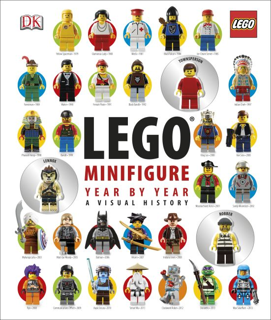 Hardback cover of LEGO® Minifigure Year by Year: A Visual History