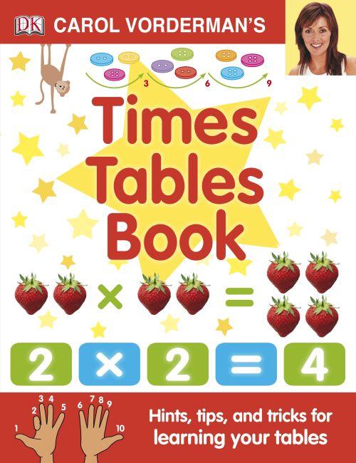 Hardback cover of Carol Vorderman's Times Tables Book