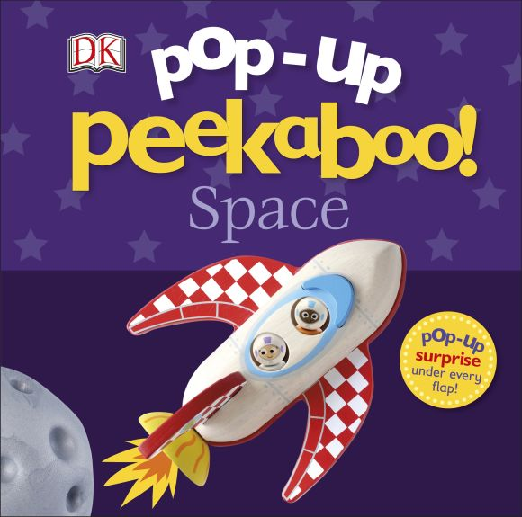 Board book cover of Pop-Up Peekaboo! Space