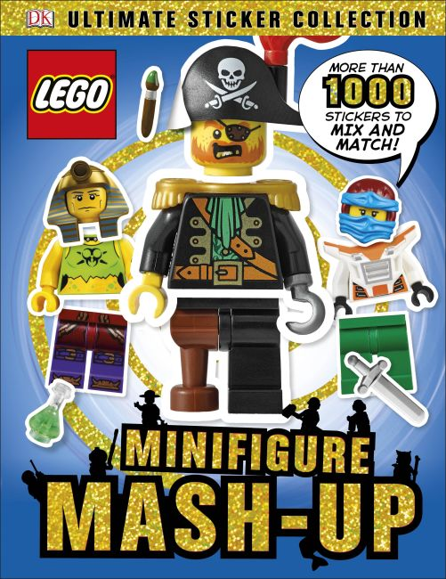 Paperback cover of Ultimate Sticker Collection: LEGO Minifigure: Mash-up!