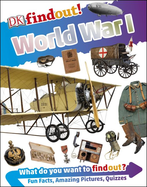 Hardback cover of DKfindout! World War I