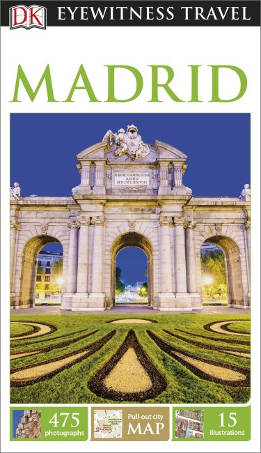 Paperback cover of DK Eyewitness Madrid Travel Guide