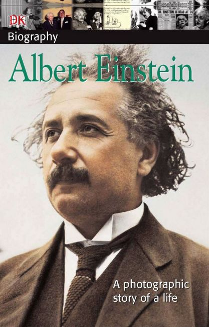 Paperback cover of DK Biography: Albert Einstein
