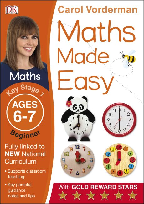 Paperback cover of Maths Made Easy Ages 6-7 Key Stage 1 Beginner