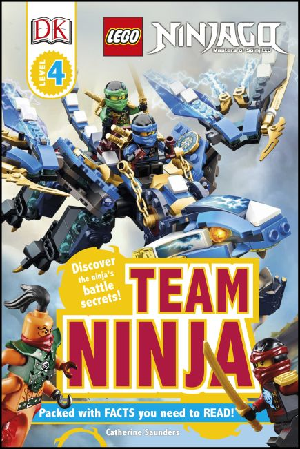 Hardback cover of DK Readers L4: LEGO NINJAGO: Team Ninja