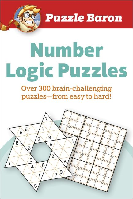 Paperback cover of Puzzle Baron Number Logic Puzzles