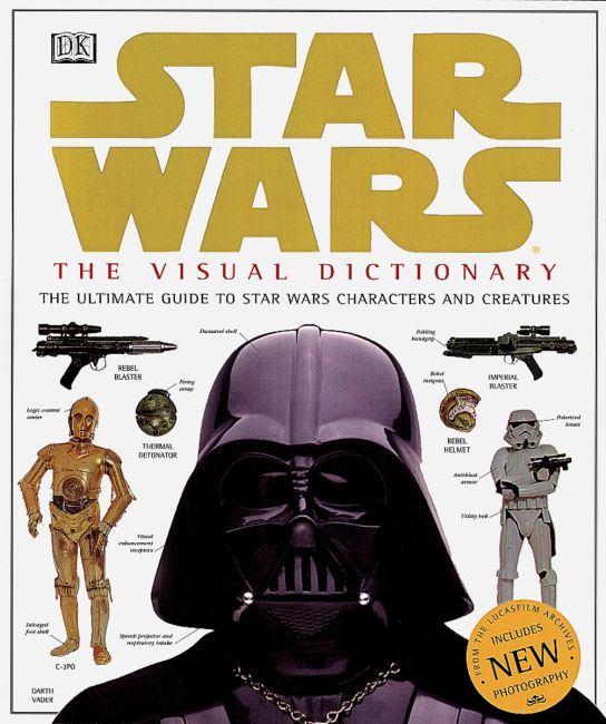 Hardback cover of Star Wars: The Visual Dictionary