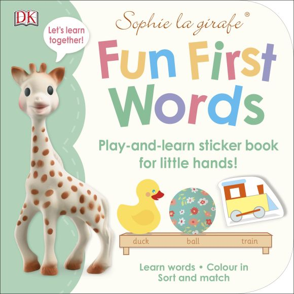 Paperback cover of Sophie la girafe Fun First Words