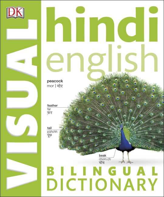 Paperback cover of Hindi-English Bilingual Visual Dictionary