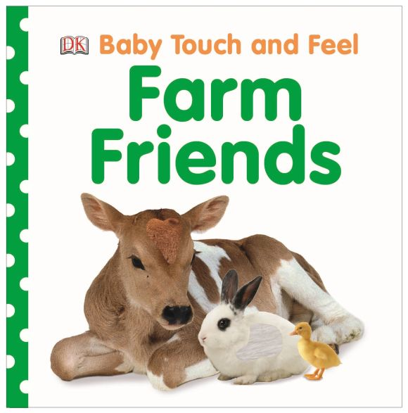 Board book cover of Baby Touch and Feel Farm Friends