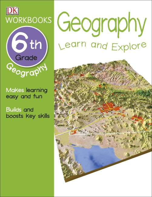 Paperback cover of DK Workbooks: Geography, Sixth Grade