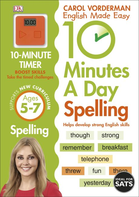 Paperback cover of 10 Minutes A Day Spelling Ages 5-7 Key Stage 1