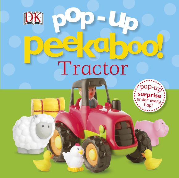 Board book cover of Pop-Up Peekaboo! Tractor