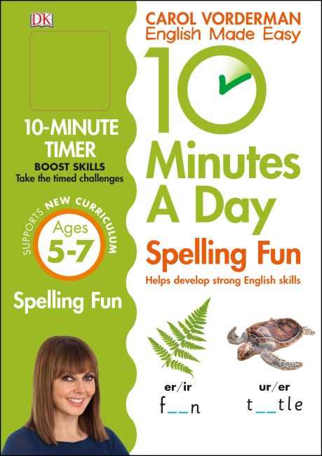 Paperback cover of 10 Minutes a Day Spelling Fun Ages 5-7 Key Stage 1