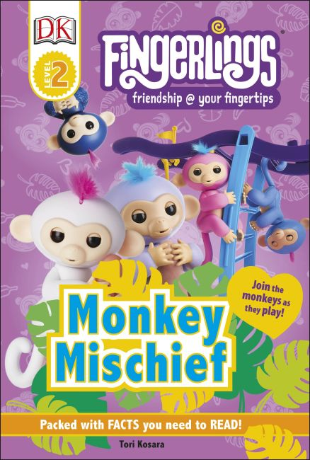 Hardback cover of Fingerlings Monkey Mischief