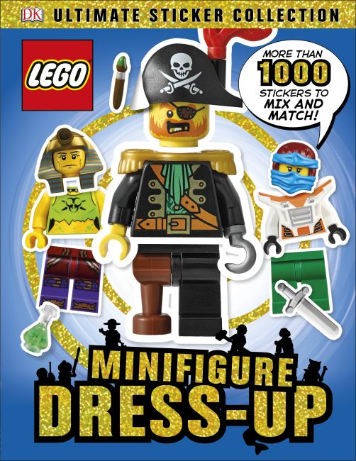 Paperback cover of LEGO Minifigure Dress-Up! Ultimate Sticker Collection