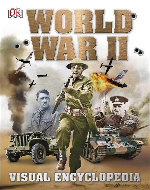 Hardback cover of World War II Visual Encyclopedia