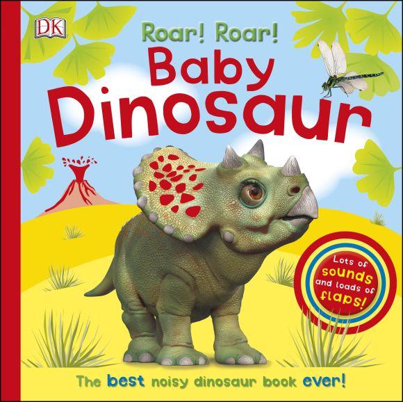 Board book cover of Roar! Roar! Baby Dinosaur