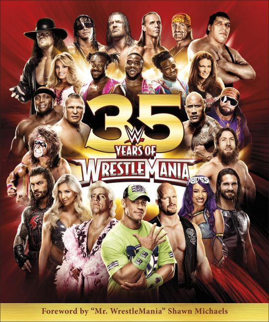 Hardback cover of WWE 35 Years of Wrestlemania