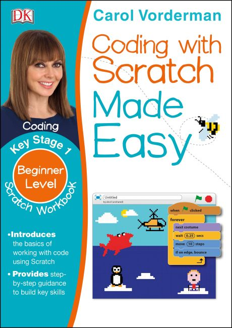 Paperback cover of Coding With Scratch Made Easy Ages 5-9 Key Stage 1