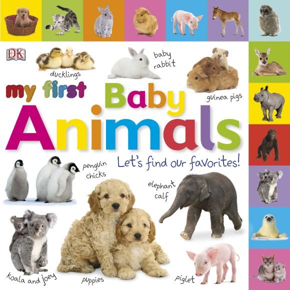Board book cover of Tabbed Board Books: My First Baby Animals