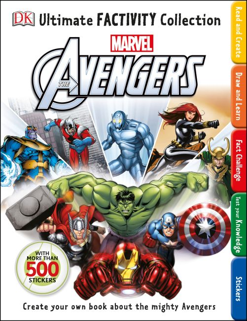 Paperback cover of Marvel The Avengers Ultimate Factivity Collection