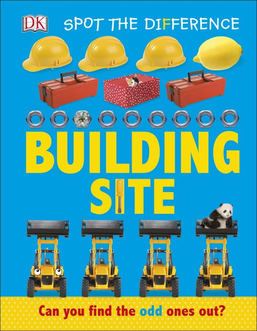 Board book cover of Spot the Difference: Building Site
