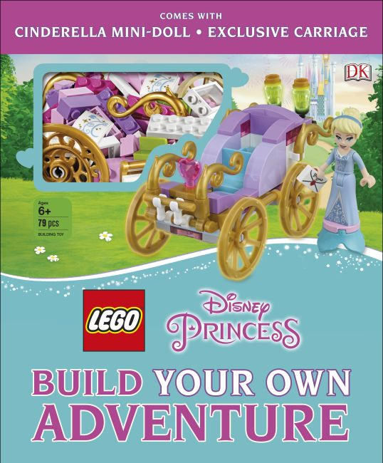 Hardback cover of LEGO Disney Princess Build Your Own Adventure