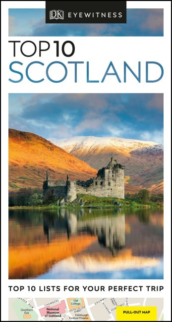 Paperback cover of DK Eyewitness Top 10 Scotland