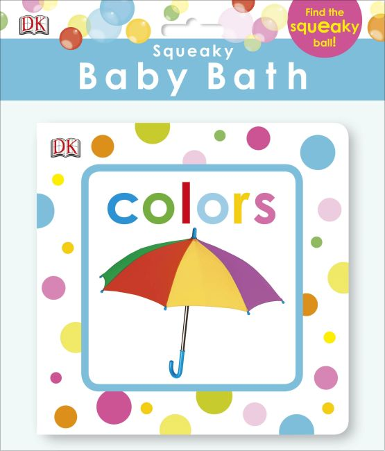 Bath book cover of Squeaky Baby Bath: Colors