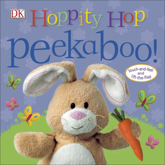 Board book cover of Hoppity Hop Peekaboo!