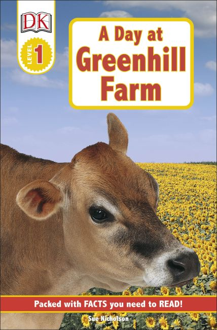 Paperback cover of DK Readers L1: A Day at Greenhill Farm