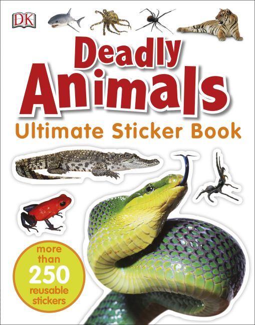 Paperback cover of Ultimate Sticker Book: Deadly Animals