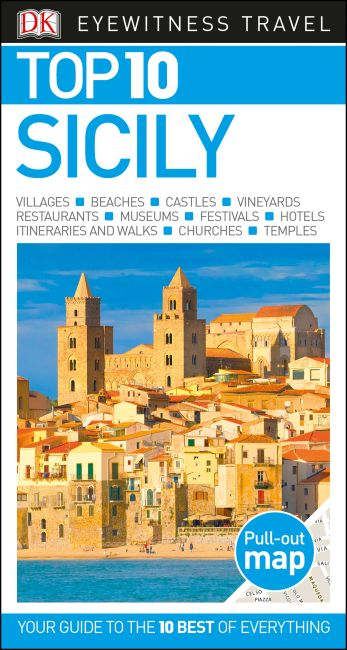 Paperback cover of DK Eyewitness Top 10 Sicily