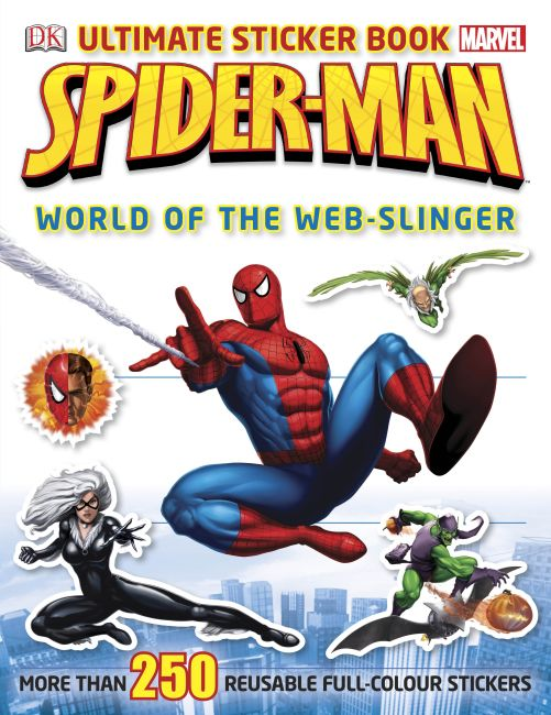 Paperback cover of Spider-Man Ultimate Sticker Book World of the Web-slinger