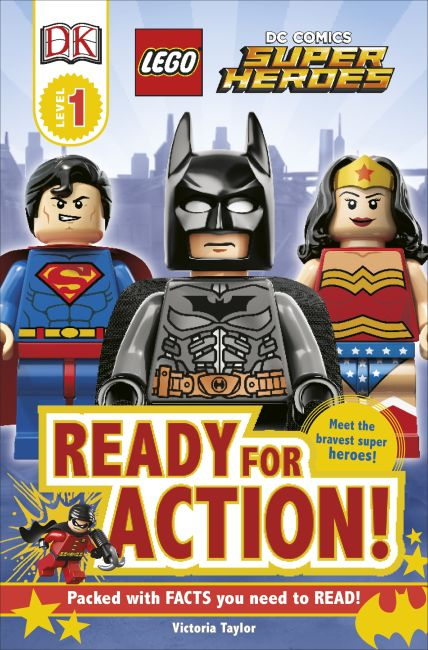 Paperback cover of DK Readers L1: LEGO® DC Super Heroes: Ready for Action!
