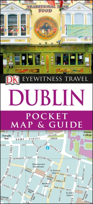 Paperback cover of DK Eyewitness Dublin Pocket Map and Guide