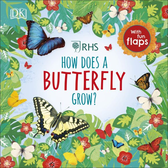 Board book cover of RHS How Does a Butterfly Grow?