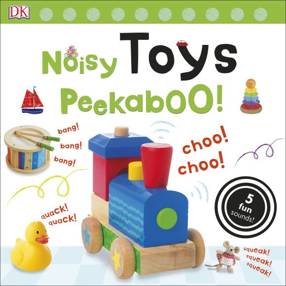 Board book cover of Noisy Toys Peekaboo!