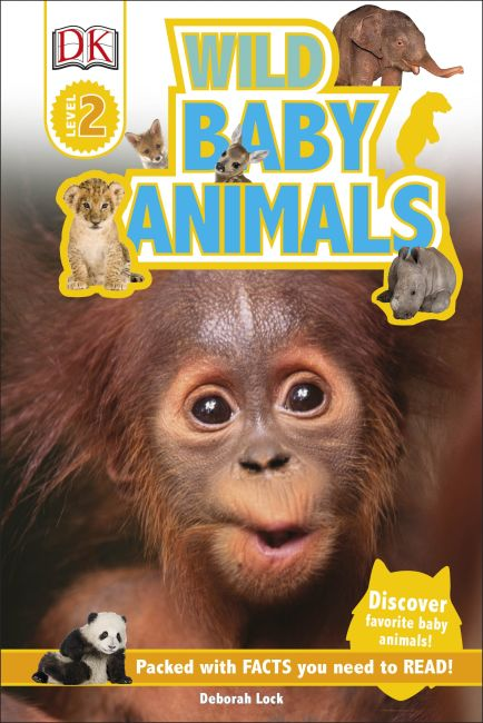 Hardback cover of DK Readers L2: Wild Baby Animals