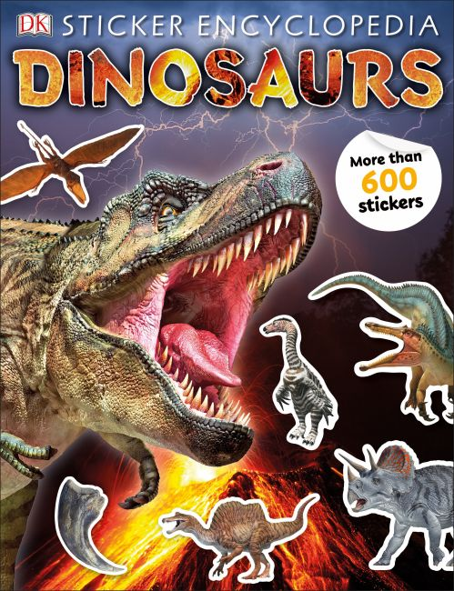 Paperback cover of Sticker Encyclopedia Dinosaurs