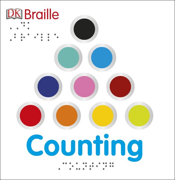 Board book cover of DK Braille: Counting