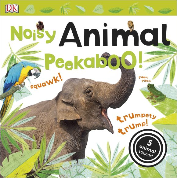Board book cover of Noisy Animal Peekaboo!